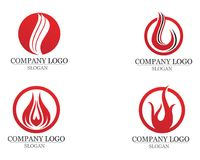 Fire flame Logo Template vector icon Oil gas and energy. Fire flame Logo Template vector icon Oil gas Stock Images
