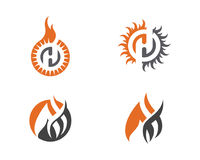 Fire flame Logo Template Stock Image