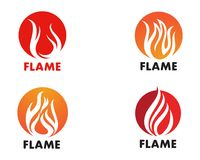 Fire flame Logo Template vector icon Oil, gas and energy logo co. Fire flame Template vector icon Oil, gas and energy logo concept Royalty Free Stock Images