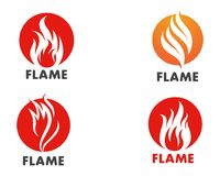 Fire flame Logo Template vector icon Oil, gas and energy logo co. Fire flame Template vector icon Oil, gas and energy logo concept Stock Images