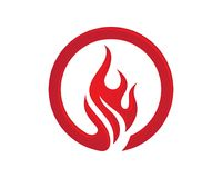 Fire flame Logo Template. Vector icon Oil, gas and energy logo concept Stock Image