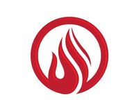 Fire flame Logo Template. Vector icon Oil, gas and energy logo concept Royalty Free Stock Photography