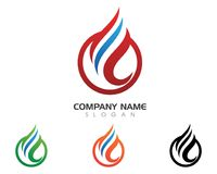 Fire flame Logo Template. Vector icon Oil, gas and energy logo concept Royalty Free Stock Image