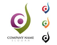 Fire flame Logo Template. Vector icon Oil, gas and energy logo concept Royalty Free Stock Images