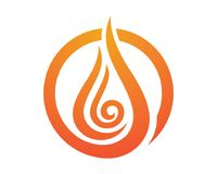 Fire flame Logo Template. Vector icon Oil, gas and energy logo concept Stock Images