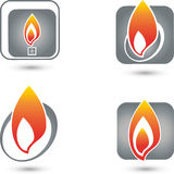 Fire, Flame, logos, collection. Fire logos, Flame logo, collection of logos Stock Photo