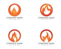 Fire flame logos symbols icons.  Stock Photos