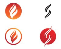 Fire flame nature logo and symbols icons template.  Stock Image