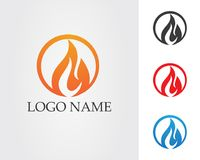 Fire flame nature logo and symbols icons template.  Stock Photos