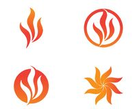 Fire flame nature logo and symbols icons template.  Stock Images