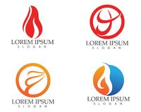 Fire flame nature logo and symbols icons template Stock Photo