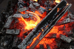 Fire and flame nine Royalty Free Stock Image