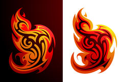 Fire flame ornament Stock Images