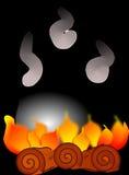 Fire, Flame, Pot, Burn, Boil, Stew Royalty Free Stock Image