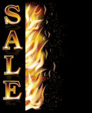 Fire flame sale banner, vector Stock Photo