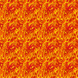 Fire flame seamless pattern. Model for design of gift packs, patterns fabric, wallpaper, web sites, etc Stock Image