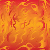 Fire flame seamless pattern. Vector Seamless Fire Flame Pattern Stock Photography
