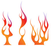 Fire flame set Stock Photo