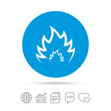 Fire flame sign icon. Heat symbol. Stock Images