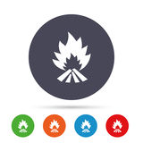 Fire flame sign icon. Heat symbol. Royalty Free Stock Images