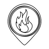 Fire flame sign icon. Vector illustration design Stock Image