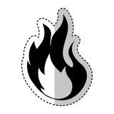 Fire flame sign icon. Vector illustration design Stock Images