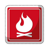 Fire flame sign isolated icon. Illustration design Stock Images