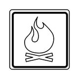 Fire flame sign isolated icon. Illustration design Royalty Free Stock Photography