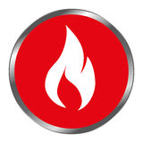 Fire flame signal icon. Vector illustration design Stock Image