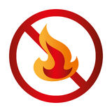 Fire flame signal icon. Vector illustration design Royalty Free Stock Photography