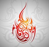 Fire flame tattoo Royalty Free Stock Image