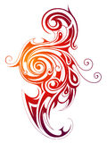 Fire flame tattoo shape Royalty Free Stock Photography