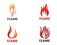Fire flame Logo Template vector icon Oil, gas and energy logo co. Fire flame Template vector icon Oil, gas and energy logo concept Royalty Free Stock Photo