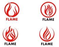 Fire flame Logo Template vector icon Oil, gas and energy logo co. Fire flame Template vector icon Oil, gas and energy logo concept Royalty Free Stock Photos