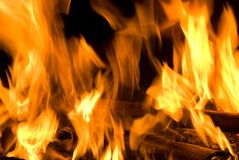 Fire flame texture Stock Images