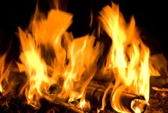 Fire flame texture Royalty Free Stock Photos
