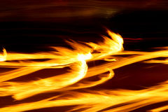Fire flame trails long exposure Royalty Free Stock Photography
