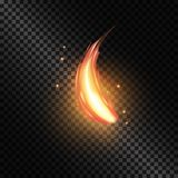 Fire flame on transparent background. For used on light backgrounds. Transparency only in vector format. Fire flame on transparent background. For used on light Royalty Free Stock Image