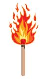 Fire flame. Vector illustration of Fire flame Stock Images