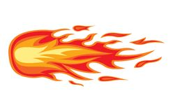 Fire flame. Vector illustration of the Fire flame Stock Photo