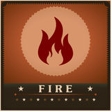 Fire flame vector poster creative design template Stock Image