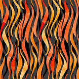 Fire flame watercolor vector seamless pattern-model for design o Stock Images