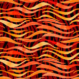 Fire flame watercolor vector seamless pattern-model for design o Royalty Free Stock Images