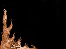 Fire-flamed background Royalty Free Stock Image