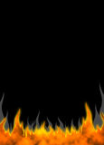 Fire Flames 01. Vertical Fire Flames background. Raster illustration Stock Photography