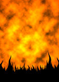 Fire Flames 02. Vertical Fire Flames background Royalty Free Stock Images