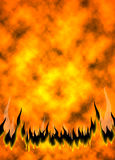 Fire Flames 03. Vertical Fire Flames background. Raster illustration. Horizontal variations look in my gallery Royalty Free Stock Photo
