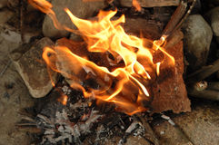 Fire flames. It is burning fire flames Stock Photos