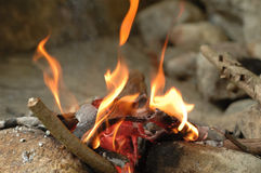 Fire flames. It is burning fire flames Stock Photo