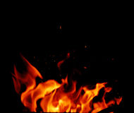 Fire and flames Royalty Free Stock Image